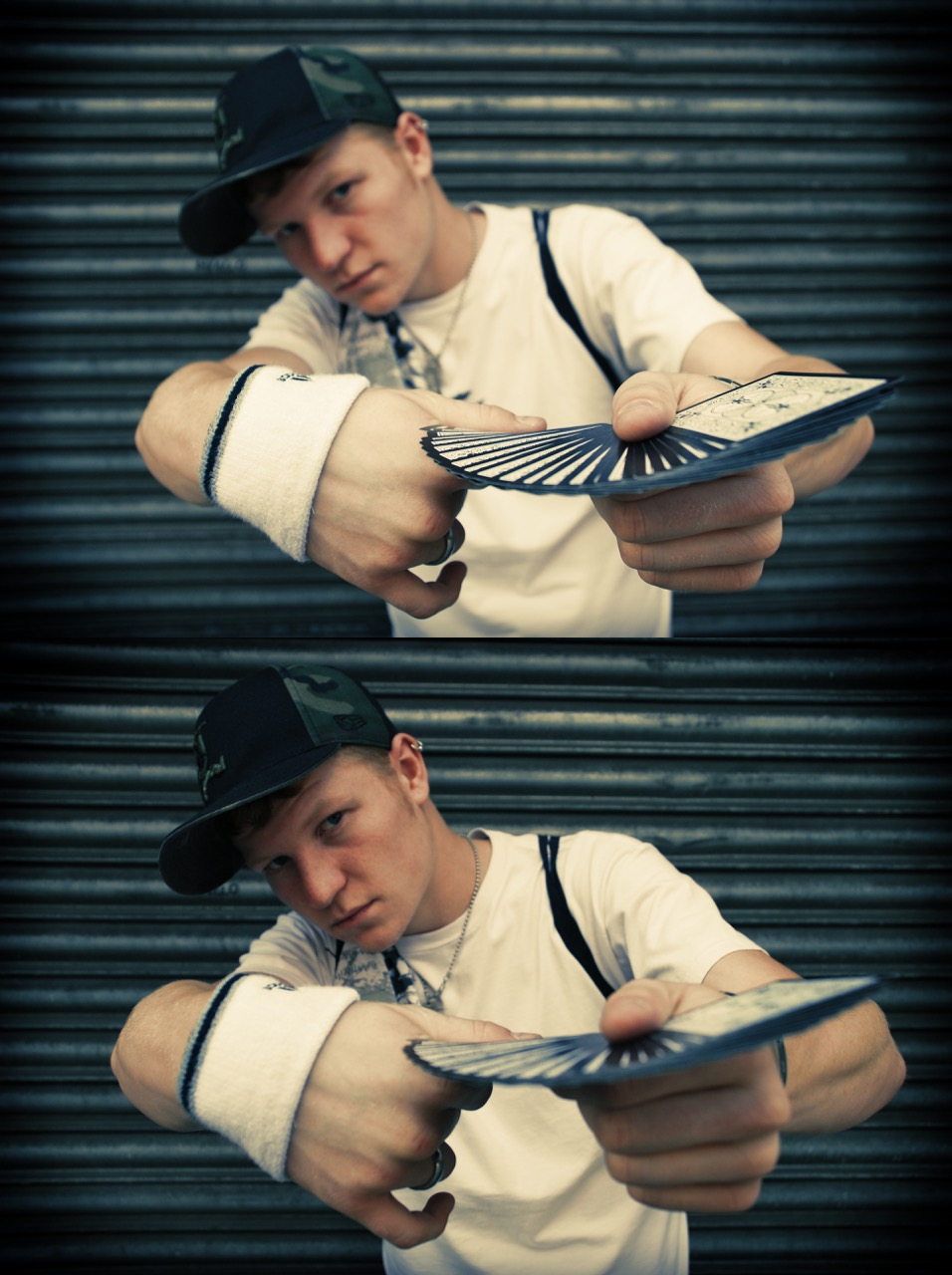 Liam Walsh Magic Kristian Yeomans Photoshoot London Street Magician Card Tricks Illusions
